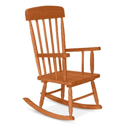 Kid Sized Spindle Rocking Chair
