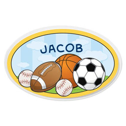 Personalized Sports Oval Plaque