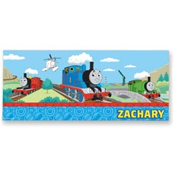 Personalized Thomas & Friends™ Rectangle Canvas Art