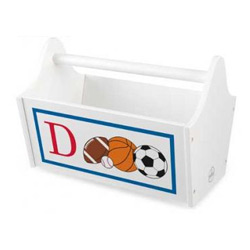 Sports Initial Toy Caddy