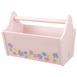 Toy Caddy with Flowers