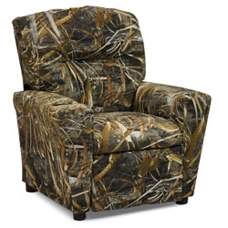 Kids Real Tree Camo Upholstered Recliner