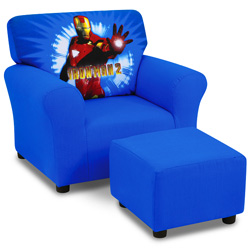 Iron Man Club Chair and Ottoman