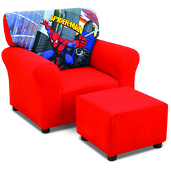 Spider Man Club Chair and Ottoman