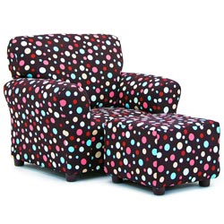 Spirodots Club Chair and Ottoman
