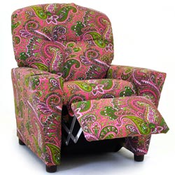 Perfect Paisley Recliner with Cup Holder