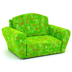 Lime Circles Sleepover Sofa