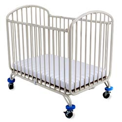 Compact Arched Metal Folding Crib