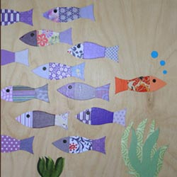 Fish Collage Art Work