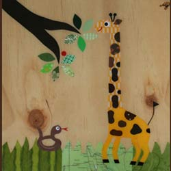 Giraffe Collage Art Work