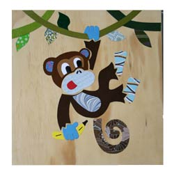 Cheeky Monkey Collage Art Work