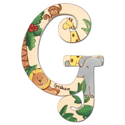 Jungle Friends 8 Inch Wall Letters