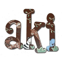 Jungle Fun 8 Inch Wall Letters