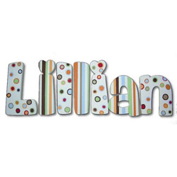 Lovely Lillian 8 Inch Wall Letters