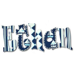 Blue Boats 8 Inch Wall Letters