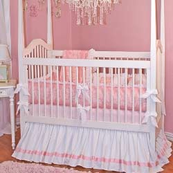 Pink Beauty Crib Bedding Set