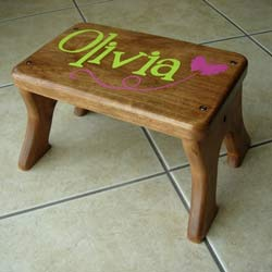 Fluttering Butterfly Step Stool