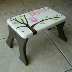 Owl Tree Step Stool