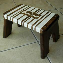 Chocolate and Vanilla Stripe Stool
