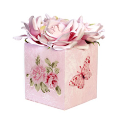 Pink Rose Tissue Box