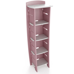 Pastel Fun to Assemble Bookcase