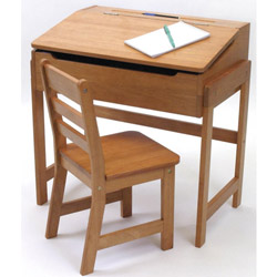 Slanted Top Desk and Chair