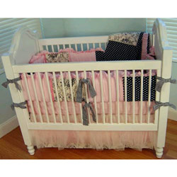 Licorice and Bubblegum Crib Bedding Set