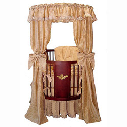 Little Angel Canopy Round Crib
