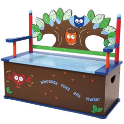 Owls Toy Box Bench
