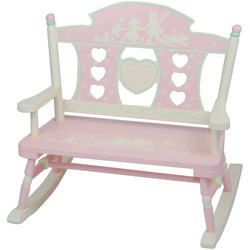 Rock-A-My-Baby Child's Double Bench Rocker