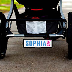 Personalized Baby Stroller Plate