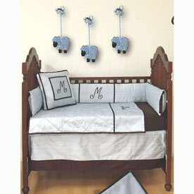 Chocolate Prince Crib Bedding Set