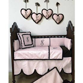 Chocolate Princess Crib Bedding Set