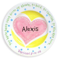 Heart Birth Plate