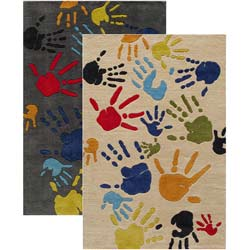 Finger Paint Rug