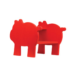 Pig Silhouette Step Stool