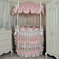 Princess and the Pea Round Crib Bedding