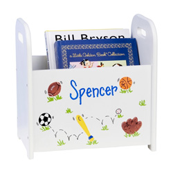 Personalized Sports Book Caddy