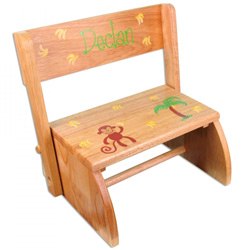 Personalized Monkey Flip Stool