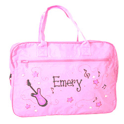 Personalized Pink Duffle Bag