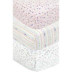Girl's 3 Piece Crib Sheet Set