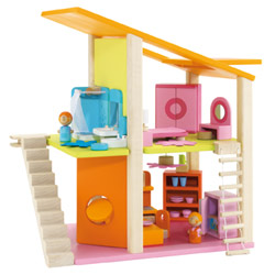 Small Furnished Mod Dollhouse