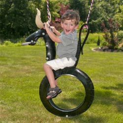 Bull Ride'n Tire Swing