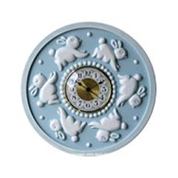 Bunnies Round Wall Clock