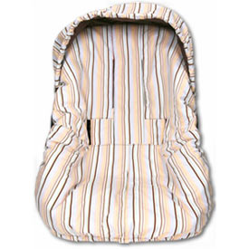 Mocha Stripe Infant/Toddler Car Seat Cover