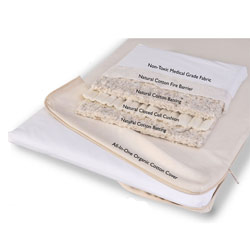Natural Cotton Cradle Mattress with Organic Coverlet