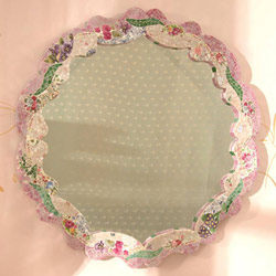 Mosaic Scalloped Mirror