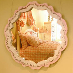 Hand Painted Scalloped Mirror