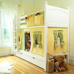 Bunk Bed with Tent and Curtain