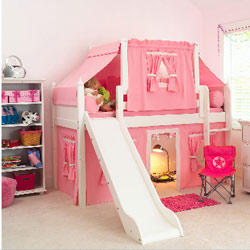 Princess Loft Bed with Tent & Loft Bed with Tent